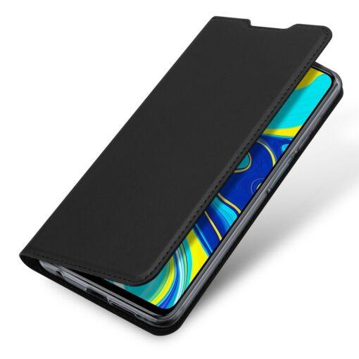Xiaomi Redmi Note 9 Pro kunstnahast kaaned DUX DUCIS Skin Pro Bookcase must 3