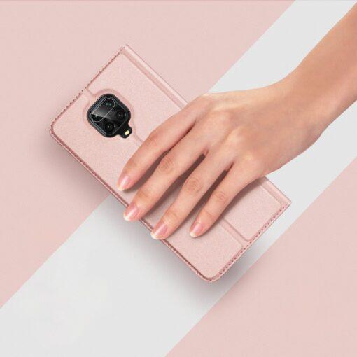 Xiaomi Redmi Note 9 Pro kunstnahast kaaned DUX DUCIS Skin Pro Bookcase roosa 10