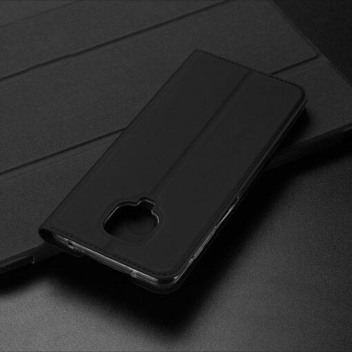 Xiaomi Redmi Note 9 Pro kunstnahast kaaned DUX DUCIS Skin Pro Bookcase roosa 19