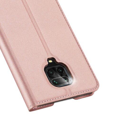 Xiaomi Redmi Note 9 Pro kunstnahast kaaned DUX DUCIS Skin Pro Bookcase roosa 2