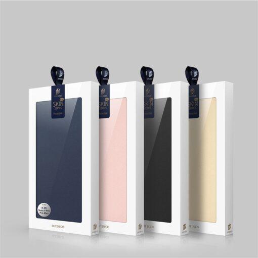 Xiaomi Redmi Note 9 Pro kunstnahast kaaned DUX DUCIS Skin Pro Bookcase roosa 23