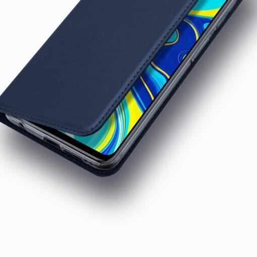 Xiaomi Redmi Note 9 Pro kunstnahast kaaned DUX DUCIS Skin Pro Bookcase sinine 15