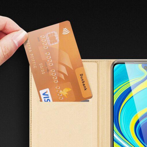 Xiaomi Redmi Note 9 Pro kunstnahast kaaned DUX DUCIS Skin Pro Bookcase sinine 16