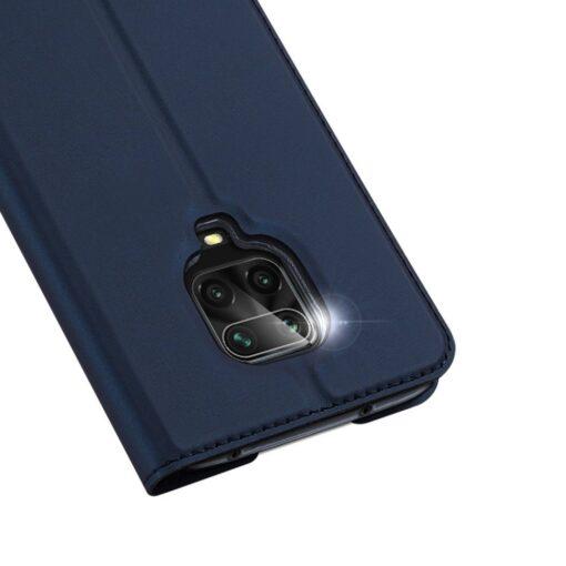 Xiaomi Redmi Note 9 Pro kunstnahast kaaned DUX DUCIS Skin Pro Bookcase sinine 2