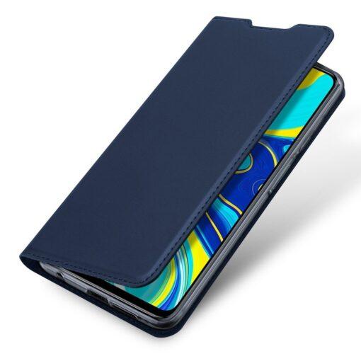 Xiaomi Redmi Note 9 Pro kunstnahast kaaned DUX DUCIS Skin Pro Bookcase sinine 3