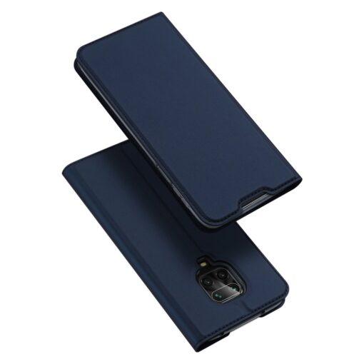 Xiaomi Redmi Note 9 Pro kunstnahast kaaned DUX DUCIS Skin Pro Bookcase sinine