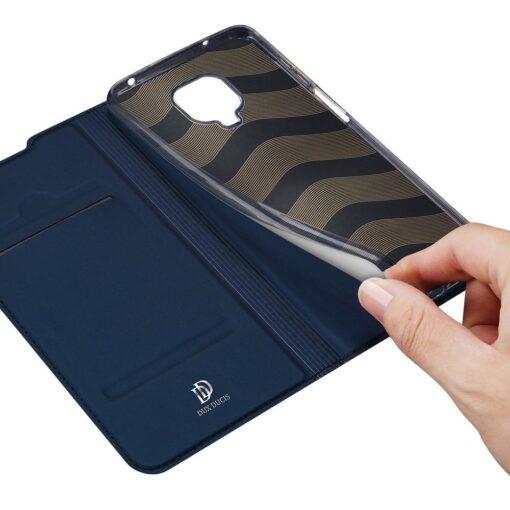 Xiaomi Redmi Note 9 Pro kunstnahast kaaned DUX DUCIS Skin Pro Bookcase sinine 6