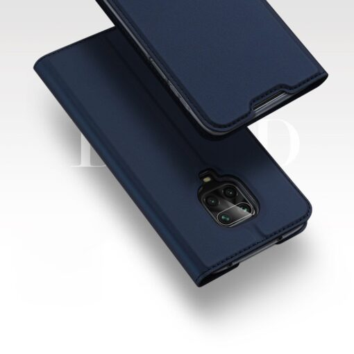 Xiaomi Redmi Note 9 Pro kunstnahast kaaned DUX DUCIS Skin Pro Bookcase sinine 8