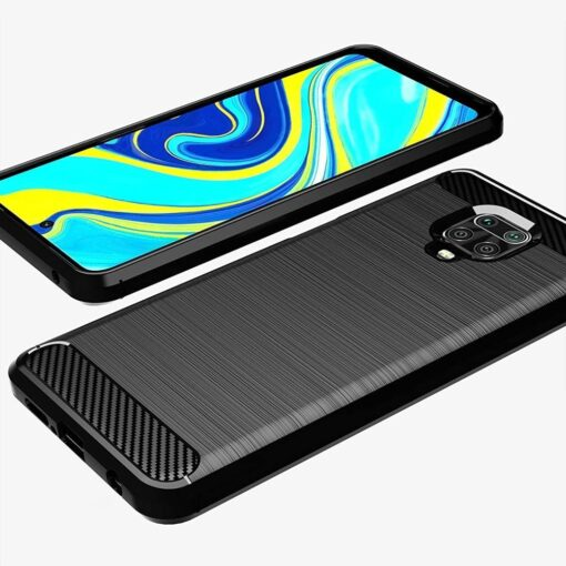 Xiaomi Redmi Note 9 Pro umbris silikoonist Carbon must 1