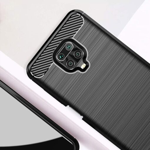 Xiaomi Redmi Note 9 Pro umbris silikoonist Carbon must 2