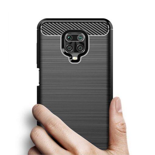 Xiaomi Redmi Note 9 Pro umbris silikoonist Carbon must 3