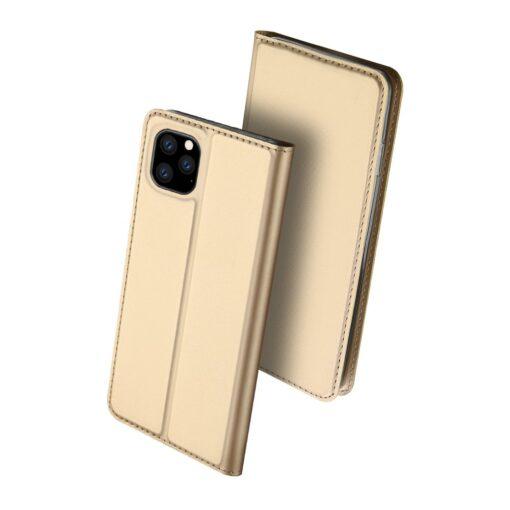 iPhone 11 Pro Max kunstnahast kaaned DUX DUCIS Skin Pro Bookcase kuldne 1