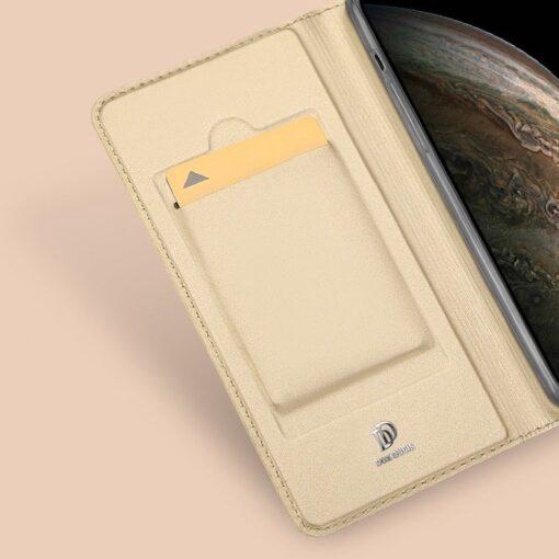 iPhone 11 Pro Max kunstnahast kaaned DUX DUCIS Skin Pro Bookcase kuldne 11