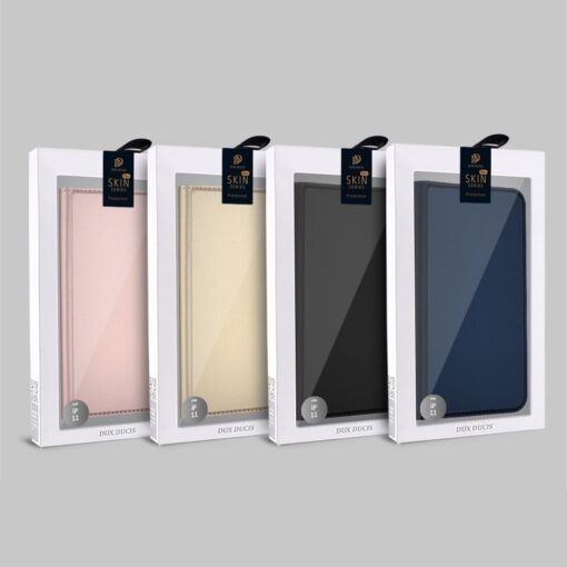 iPhone 11 Pro Max kunstnahast kaaned DUX DUCIS Skin Pro Bookcase kuldne 19