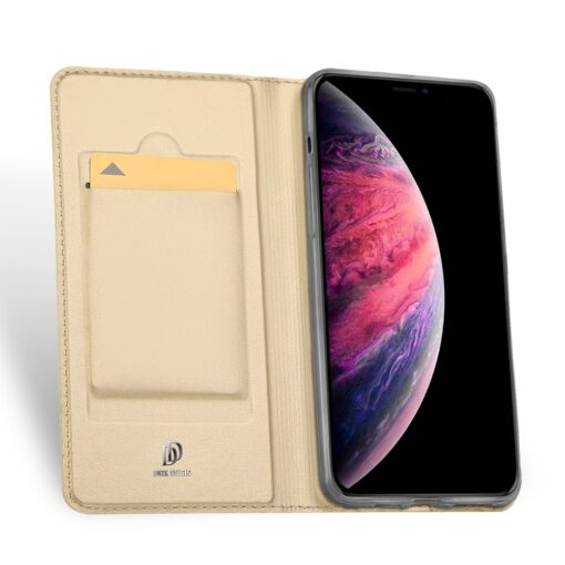 iPhone 11 Pro Max kunstnahast kaaned DUX DUCIS Skin Pro Bookcase kuldne 2