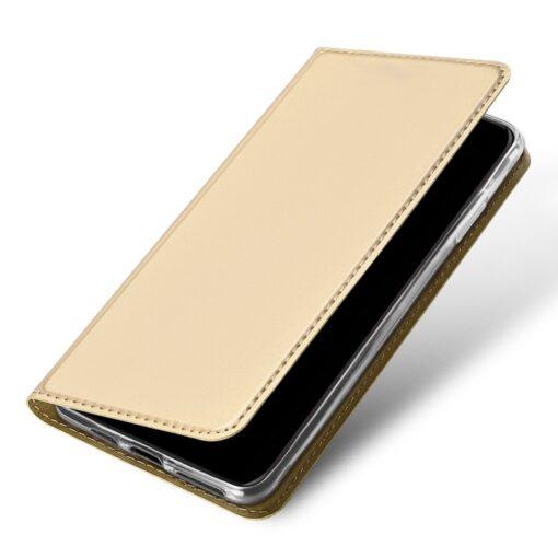 iPhone 11 Pro Max kunstnahast kaaned DUX DUCIS Skin Pro Bookcase kuldne 3