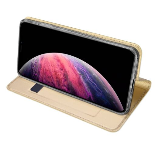 iPhone 11 Pro Max kunstnahast kaaned DUX DUCIS Skin Pro Bookcase kuldne 4