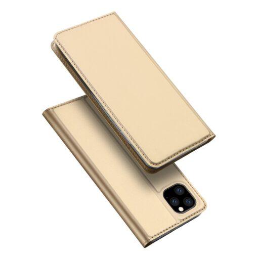 iPhone 11 Pro Max kunstnahast kaaned DUX DUCIS Skin Pro Bookcase kuldne