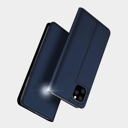 iPhone 11 Pro Max kunstnahast kaaned DUX DUCIS Skin Pro Bookcase kuldne 9