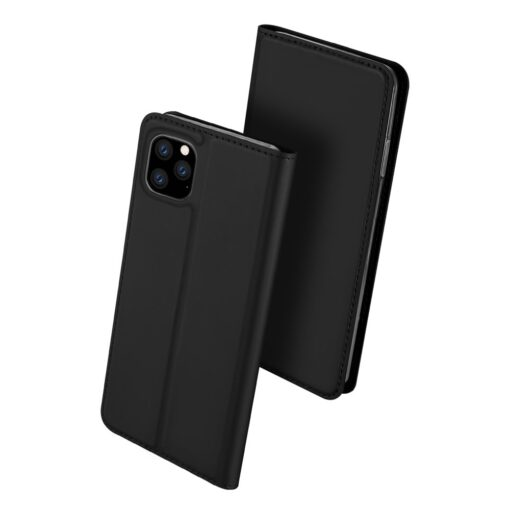 iPhone 11 Pro Max kunstnahast kaaned DUX DUCIS Skin Pro Bookcase must 1
