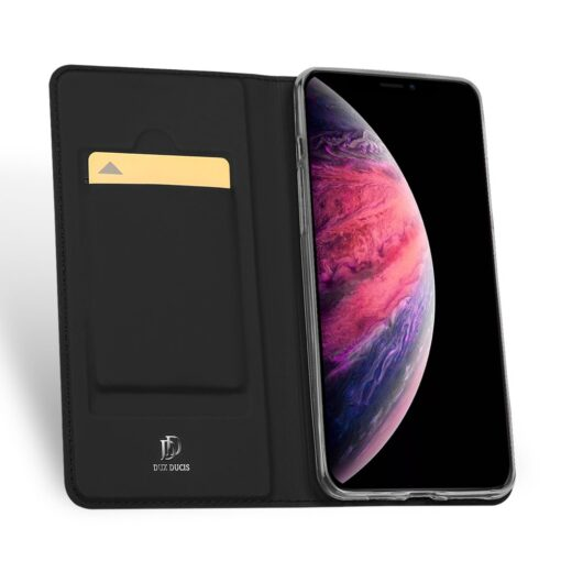 iPhone 11 Pro Max kunstnahast kaaned DUX DUCIS Skin Pro Bookcase must 2