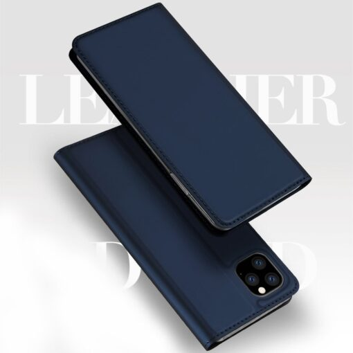 iPhone 11 Pro Max kunstnahast kaaned DUX DUCIS Skin Pro Bookcase must 5