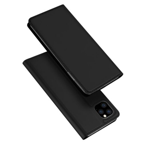iPhone 11 Pro Max kunstnahast kaaned DUX DUCIS Skin Pro Bookcase must