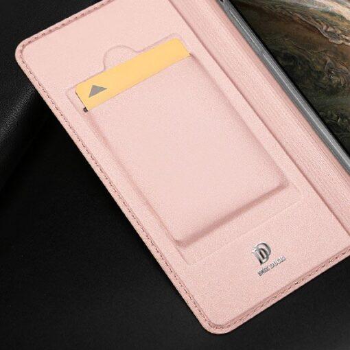 iPhone 11 Pro Max kunstnahast kaaned DUX DUCIS Skin Pro Bookcase roosa 13