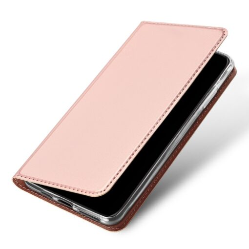 iPhone 11 Pro Max kunstnahast kaaned DUX DUCIS Skin Pro Bookcase roosa 3