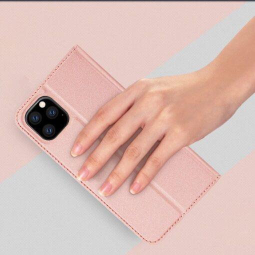 iPhone 11 Pro Max kunstnahast kaaned DUX DUCIS Skin Pro Bookcase roosa 7