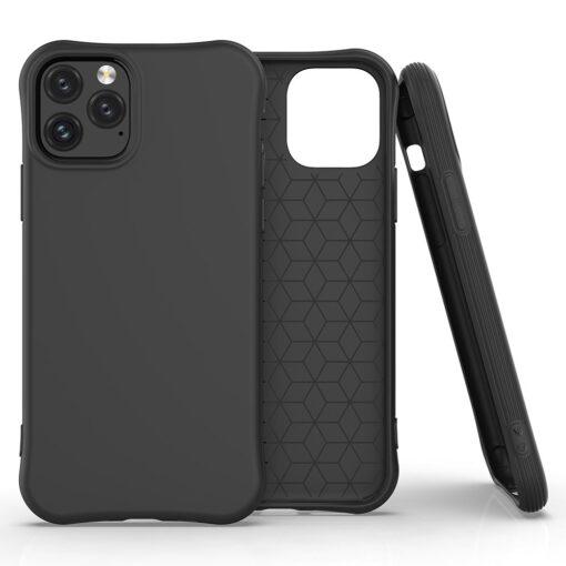 iPhone 11 Pro Max tugevdatud nurkadega silikoonist umbris must