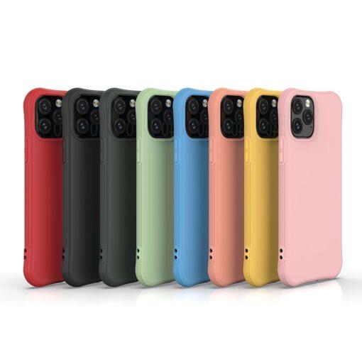 iPhone 11 Pro Max tugevdatud nurkadega silikoonist umbris punane 5
