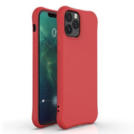 iPhone 11 Pro Max tugevdatud nurkadega silikoonist umbris punane