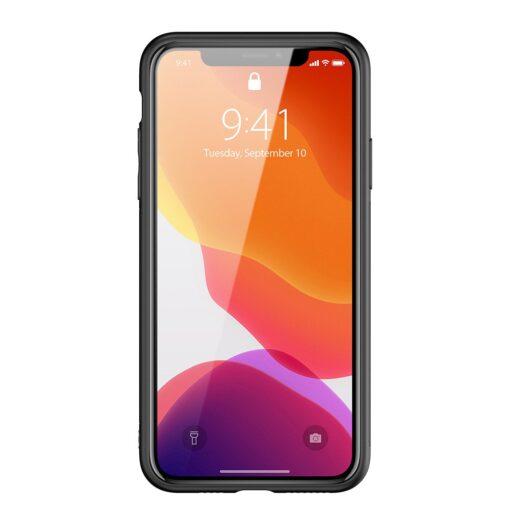 iPhone 11 Pro Max umbris Dux Ducis Yolo elegant kunstnahast ja silikoonist servadega must 12