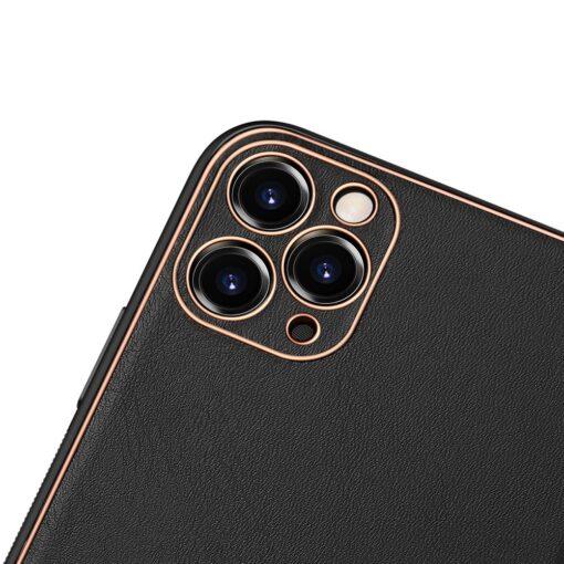 iPhone 11 Pro Max umbris Dux Ducis Yolo elegant kunstnahast ja silikoonist servadega must 2