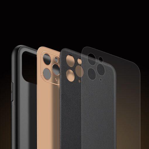 iPhone 11 Pro Max umbris Dux Ducis Yolo elegant kunstnahast ja silikoonist servadega must 8