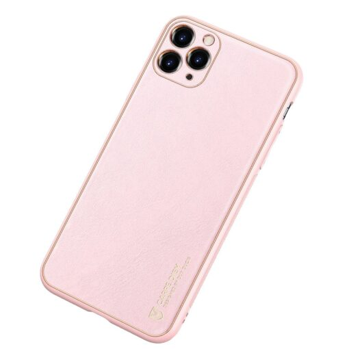 iPhone 11 Pro Max umbris Dux Ducis Yolo elegant kunstnahast ja silikoonist servadega roosa 1