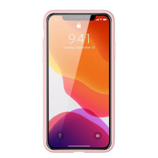iPhone 11 Pro Max umbris Dux Ducis Yolo elegant kunstnahast ja silikoonist servadega roosa 13