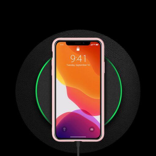 iPhone 11 Pro Max umbris Dux Ducis Yolo elegant kunstnahast ja silikoonist servadega roosa 8