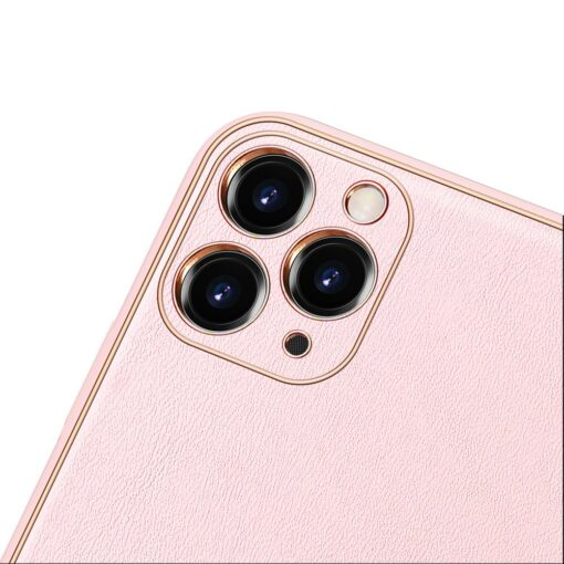 iPhone 11 Pro Max umbris Dux Ducis Yolo elegant kunstnahast ja silikoonist servadega roosa 9