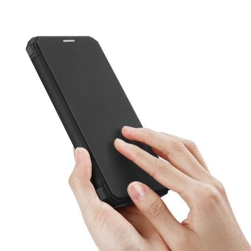 iPhone 11 Pro max kunstnahast kaaned kaarditaskuga DUX DUCIS Skin Pro must 1