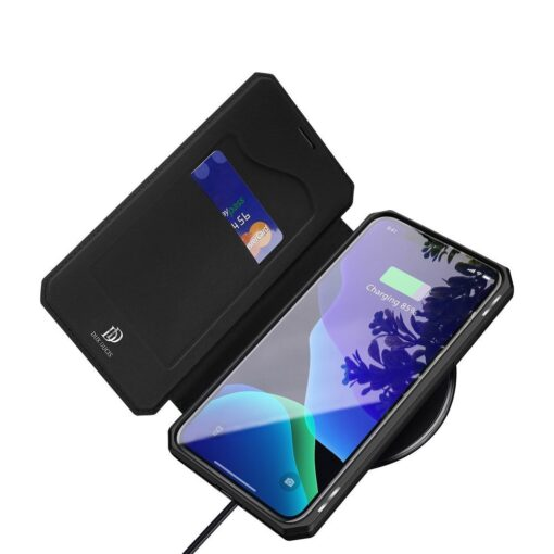 iPhone 11 Pro max kunstnahast kaaned kaarditaskuga DUX DUCIS Skin Pro must 6