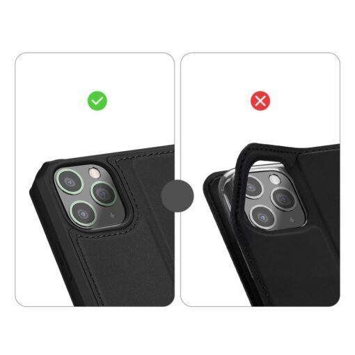 iPhone 11 Pro max kunstnahast kaaned kaarditaskuga DUX DUCIS Skin Pro must 8