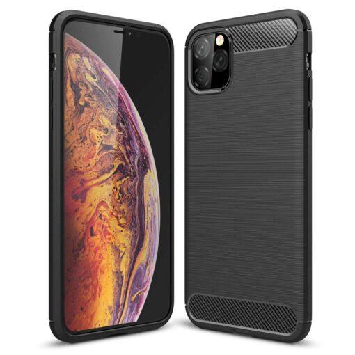 iPhone 11 Pro umbris silikoonist Carbon must