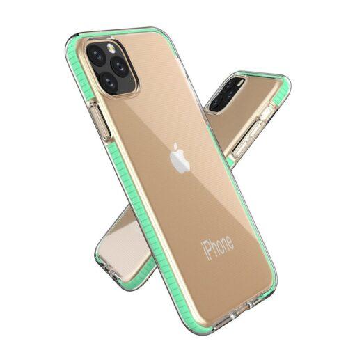 iPhone 11 Pro umbris silikoonist varvilise raamiga roosa 1
