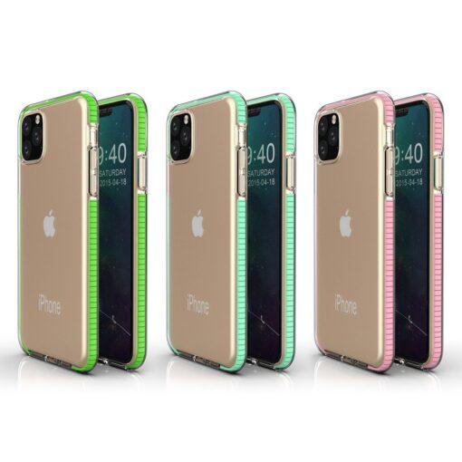 iPhone 11 Pro umbris silikoonist varvilise raamiga roosa 2