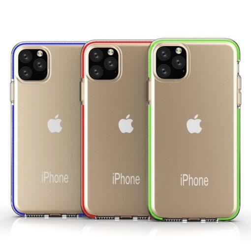 iPhone 11 Pro umbris silikoonist varvilise raamiga roosa 3