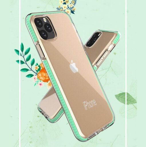 iPhone 11 Pro umbris silikoonist varvilise raamiga roosa 4
