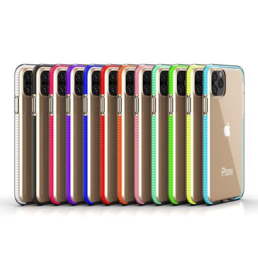 iPhone 11 Pro umbris silikoonist varvilise raamiga roosa 5