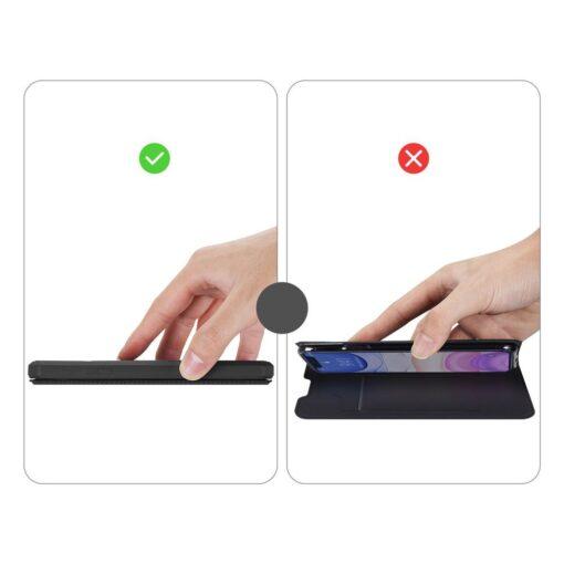 iPhone 11 kunstnahast kaaned kaarditaskuga DUX DUCIS Skin Pro must 10